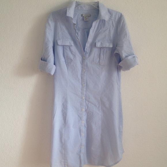 c122cbb43 H&M Dresses   Striped Blue Shirt Dress And Bow Back Tee   Poshmark