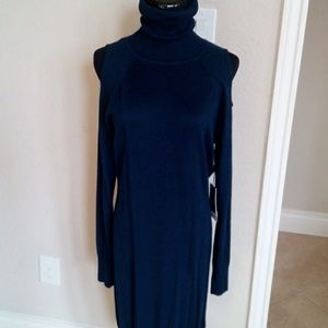 Nwt sweater cutout dress - navy- L