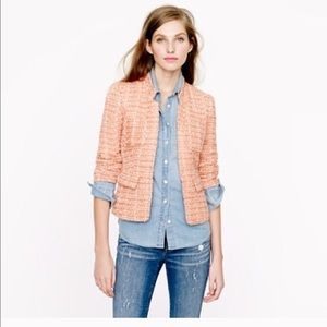 J.Crew Tweed Blazer in Coral