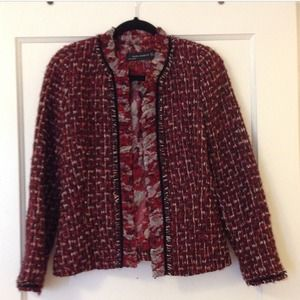 Zara Tweed Blazer with Chiffon Floral Lining