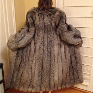 eed5f4c866 J. Percy for Marvin Richards Jackets & Coats - Full Length Woman's Silver  Fox Fur