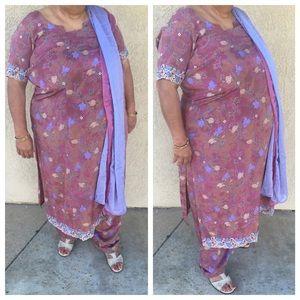 Dresses & Skirts - Laser cut embroidered Indian  dress