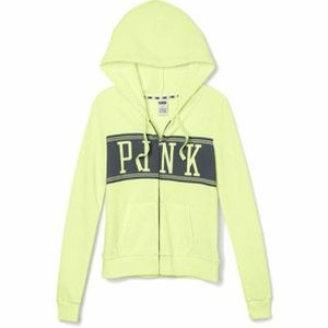 PINK Victoria's Secret Sweaters - 🌹HP NWT Victoria's Secret Yellow Hoodie Large