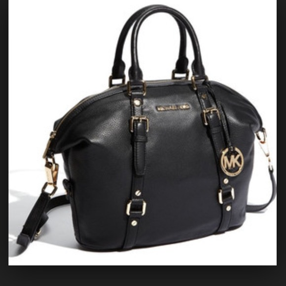 c132f02621e9 ... coupon for michael kors large bedford bowling satchel black e6614 b411d