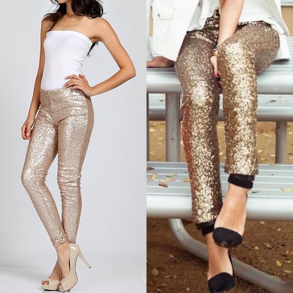1111b46a7246d ... BROOKLYN sequin leggings - GOLD. M_549386f9a632b62d0b01078d