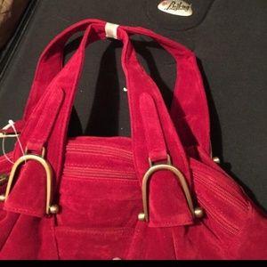 Handbags - Burbendy red suade