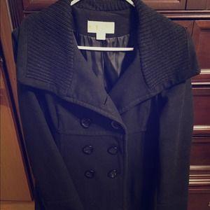 Michael Kors black pea coat size 10 Host Pic