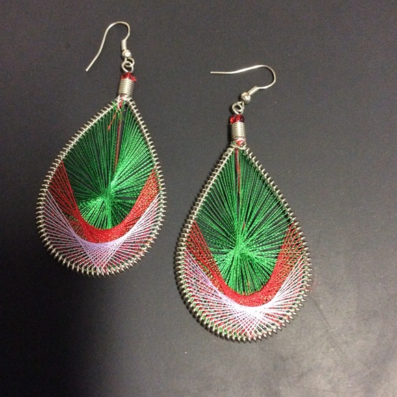 Earrings Made Out Of Thread OS From Awesome's Closet On