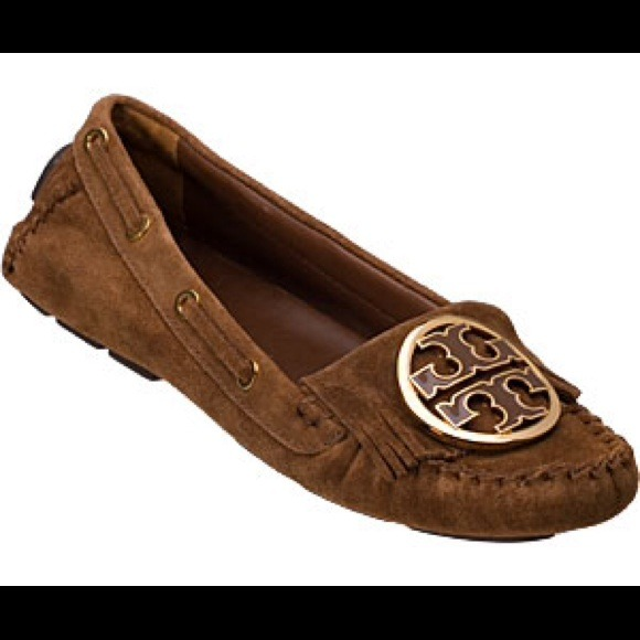 Tory Burch Alexandra suede moccasins size 11