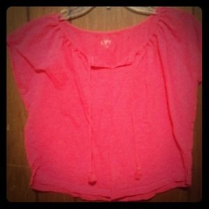 Ann Taylor Tops - Ann Taylor- the Loft pink crop top