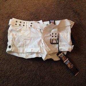 White shorts size 0