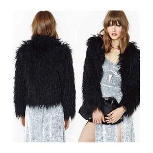 *NEW* Nasty Gal Always Ready Faux Fur Jacket