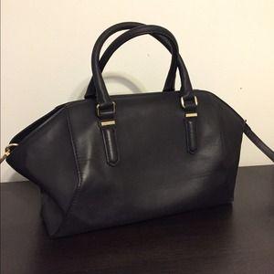 Zara Handbags - Zara black and gold handbag