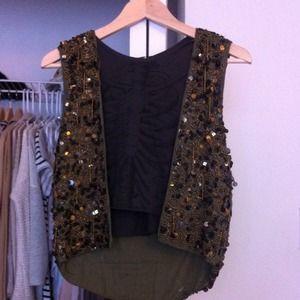 Zara sequined vest