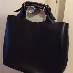 Zara Handbags - Zara large handbag black with gold details