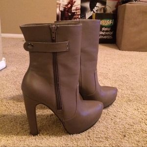 Taupe JustFab ankle boots
