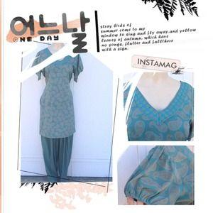 Dresses & Skirts - Semi crepe material indian dress