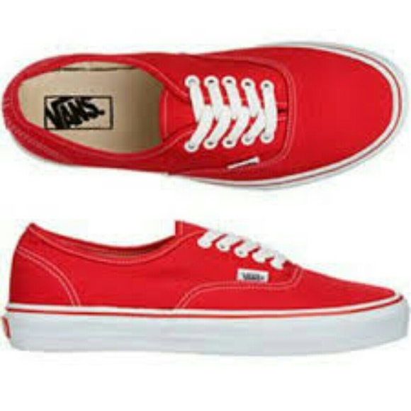84599fb703 Classic red lace-up Vans