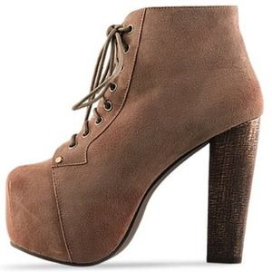 Jeffrey Campbell Shoes - Jeffrey Campbell suede Lita heel platforms