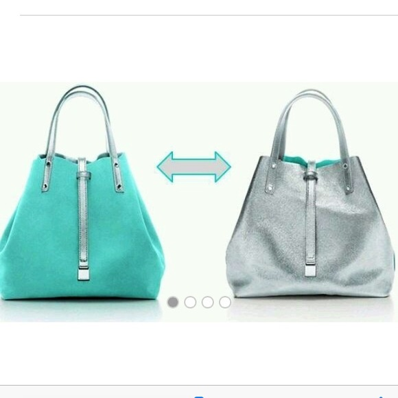 58d96acbea Authentic Tiffany blue and silver reversible bag. M_5494f65a208e4b14f803cdb8