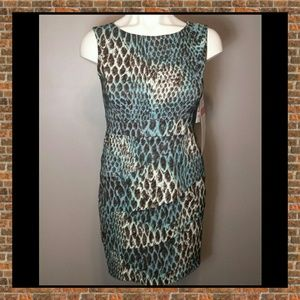 Connected Apparel Dresses & Skirts - Brown and Blues Sleeveless Dress - NWT