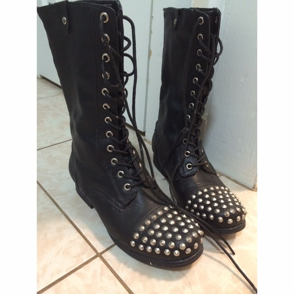 Forever 2 Studded Combat Boots