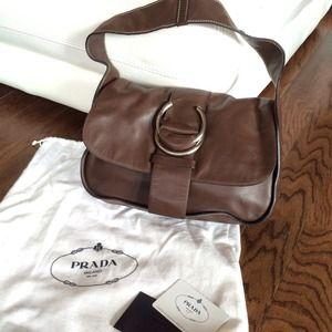 prada nylon tote sale - 69% off Prada Handbags - 4X\u0026#39;s HP! Prada Dark Brown Leather ...