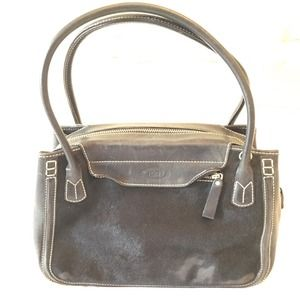 Tods black leather and fur handbag good condition
