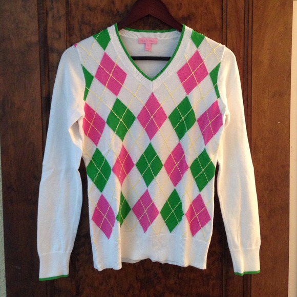 75% off Lilly Pulitzer Sweaters - Lilly Pulitzer Pink and Green ...