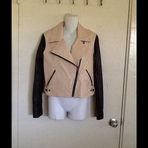 Leather Moto Jacket NWT❤️❤️⚡️⚡️