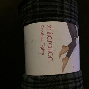 New iron gray footless tights in M/L