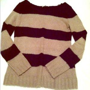 GAP VGUC Striped Colorblock Sweater Beige & Black