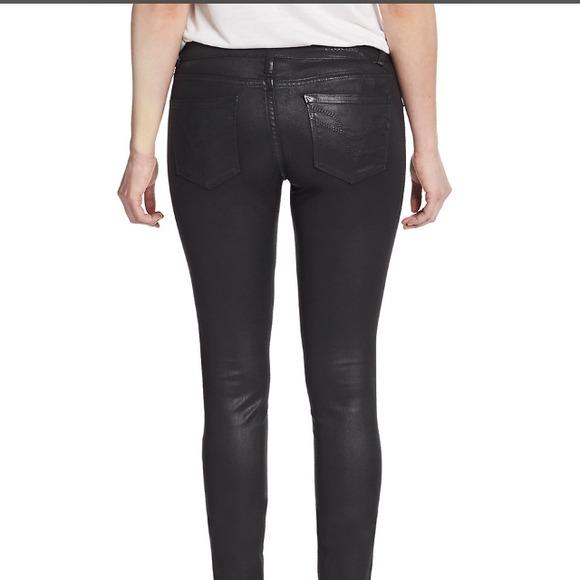 Vigoss coated skinny jeans eggplant