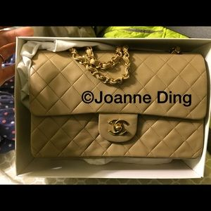 Authentic Chanel double flap bag.
