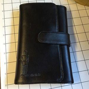 Black leather small portfolio