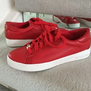MICHAEL KORS Red sneakers NEW