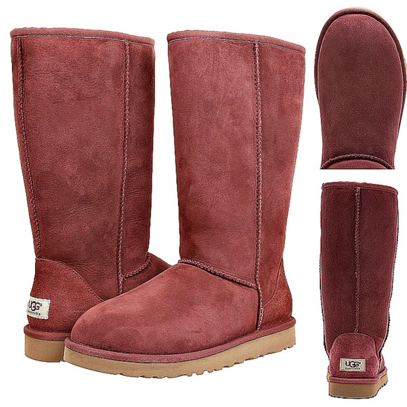 d8ce1586301 UGG Classic Tall Plum Wine Boots - size 11