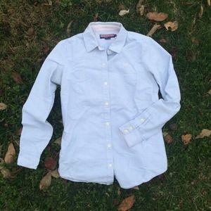 🚫SOLD VV Light Blue Stripe Button-Down Shirt
