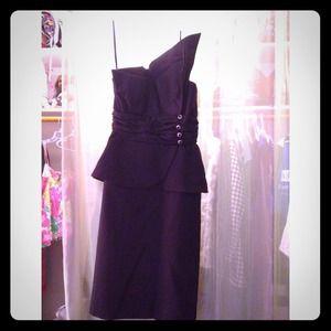 Victor Costa 80s Little Black Formal Dress