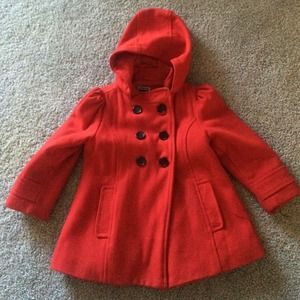 Red Pea Coat For Toddlers | Fashion Women's Coat 2017