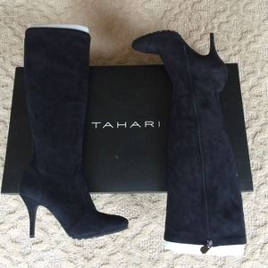 Tahari Black Suede Boots - Never Worn