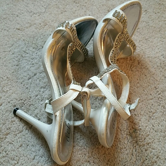 38 deb shoes white heels with straps from belen s