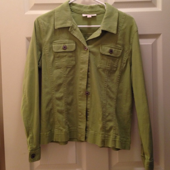 56% off Jackets & Blazers - Lime Green Denim Jacket from Kristal's ...