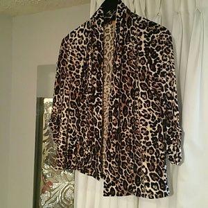 Cheetah print cover up/sweater