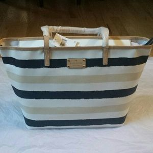 Kate Spade Navy Striped Tote