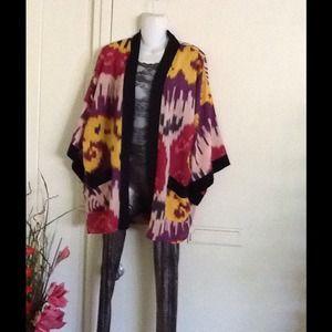 Silk Kimono Robe Watercolor