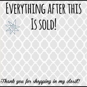 Other - Thanks for shopping my closet😘