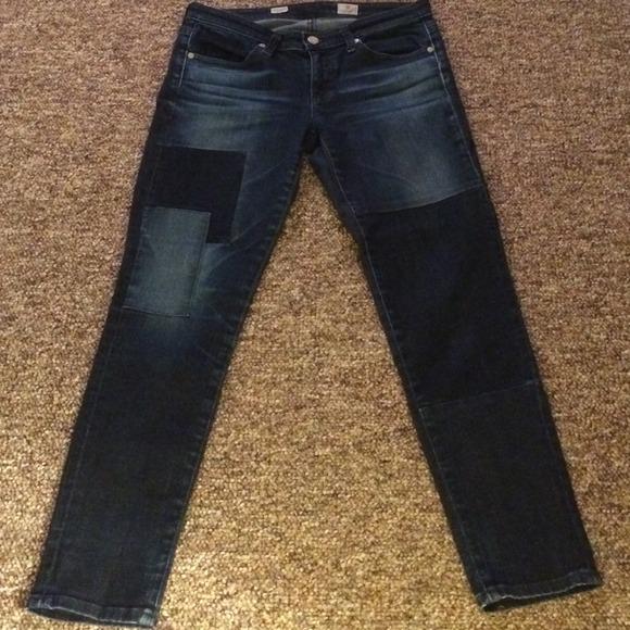 35ae135ddbe Anthropologie Denim - Anthropologie Dark Wash Patchwork Jeans