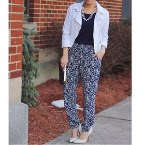 Old Navy Pants - Navy & White Print a Joggers