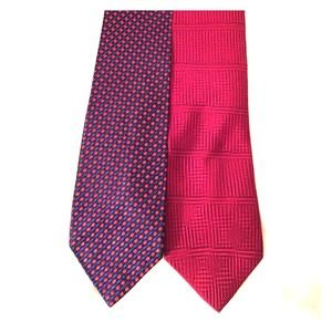 Huntington and bill blass printed ties